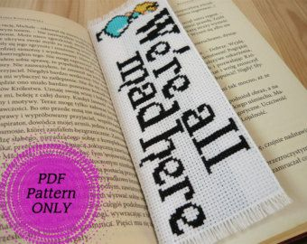 Pattern - Cross stitch bookmark - Books + coffee = BFF (download pdf) Do you need something to mark a page in your favorite book? This unique bookmark is perfect for you! It will be also a luxury gift for the person who loves to read books, talk about them and write. This bookmark is cross stitched with embroidery floss on canvas Aida 14ct. Finished bookmarks size: Approximately 4,5cm(1,77) x 13cm(5,12) - when stitched on 14 count Aida. Pattern size : 21x62 stitches This pattern consi...
