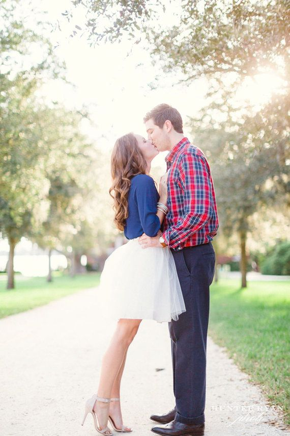 Wanna do this for my engagement photos! What better occasion than your engagement shoot for an adorable tulle skirt?!