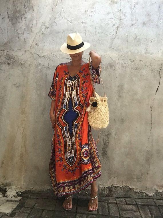 Etnico kafatan vestito bohemien hipppie festival di stylepark1