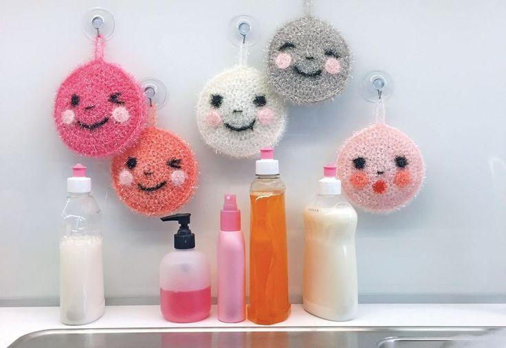 """Anleitung für Spülschwamm """"Spiegelei"""" aus Creative Bubble.   Creative Bubble ist ein neuartiges Garn, mit dem lustige Spülschwämme gehäkelt werden können. Wir stellen das Garn vor und haben auch eine kostenlose Anleitung."""