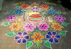 Mattu Thai Pongal Kolam with Dots Galleries Pot Rangoli Designs Patterns 2016
