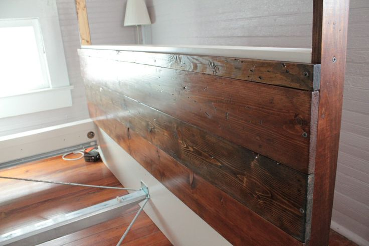 Ikea malm headboard hack helpful pinterest for Reclaimed wood dc