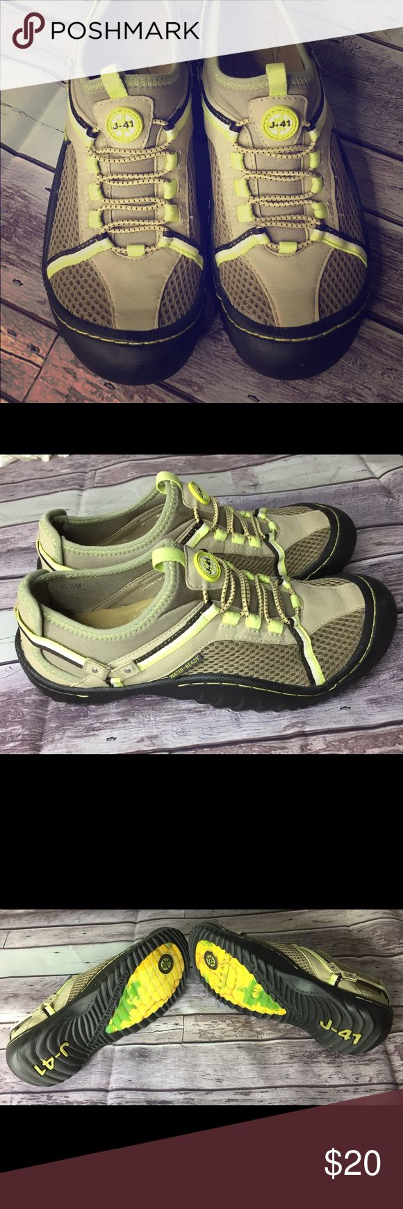 "J-41 ""Tahoe"" Womens Slip on Hiking Water Shoes J-41 ""Adventure On Tahoe"" Womens Hiking and Water slip on shoes with Jeep Sole.  Made with vegan materials.  Worn once! Jeep Shoes Athletic Shoes"