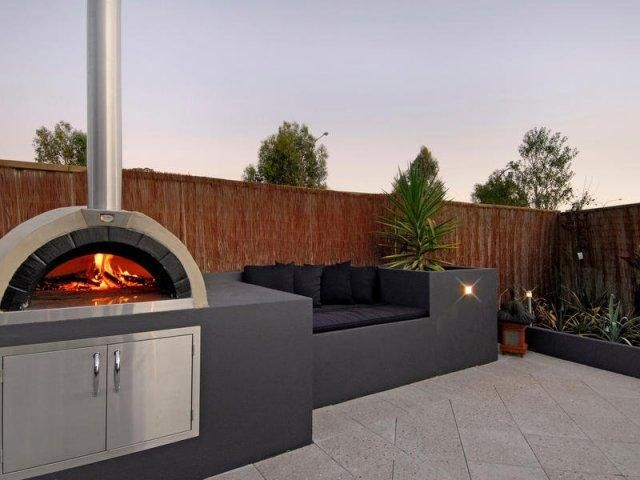 Best 25 industrial outdoor pizza ovens ideas on pinterest wheel rim welding projects and - Outdoor kitchen designs with pizza oven ...