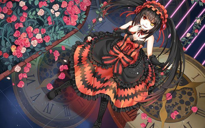 Download wallpapers Date a Live, light novel, Japanese manga, anime manga, Toka Yatogami