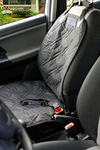Transpawt Luxury Dog Car Seat Covers   Waterproof Pet Front Seat Cover For  Cars, Trucks And SUVs   Black, 46
