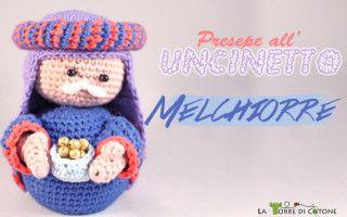 crochet Nativity # 7:  Melchior
