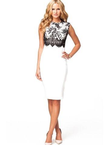 Solid O-Neck Sleeveless White Dresse