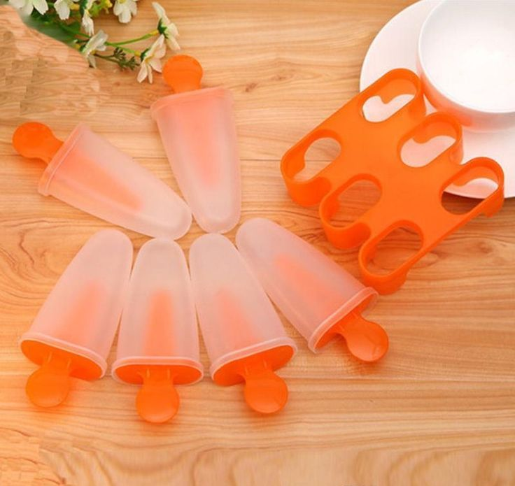 Popsicle Molds : Set of 6 Ice Pop Makers
