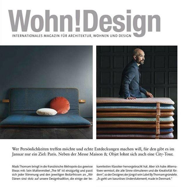 THE M featured in the uber-cool German magazine Wohn!Design #them #bythornam #shapeityourway #interiordesign #furniture #madeindenmark #handmade #luxery #slowliving #hygge #anilineleather #velvet