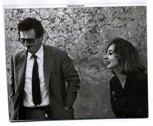 Oriana Fallaci e Pietro Germi. Foto di Pallottelli