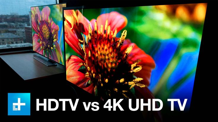 4K UHD TV vs. 1080p HDTV - Side by Side Comparison::60-inch is about as small a screen as you'll want to go with 4K, as anything smaller from a typical viewing distance has a much lower payoff. Conversely, the bigger the screen the more obvious the improvement in resolution is.