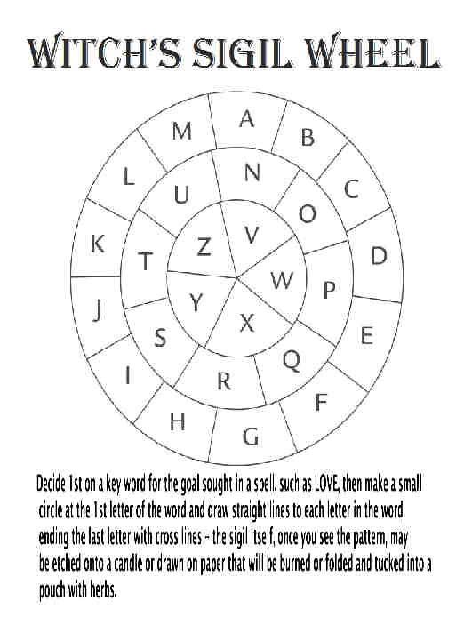 Witch's Sigil Wheel