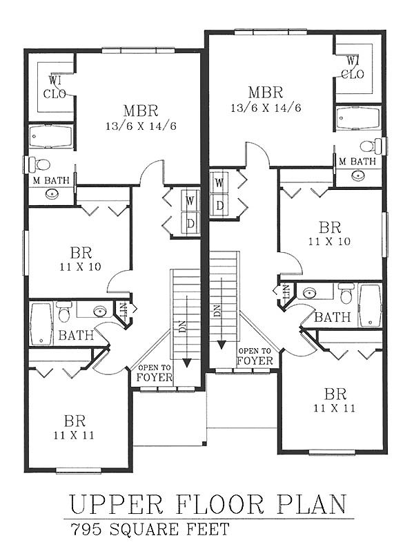 Multi family plan 46191 floors and floor plans for Multi family building plans