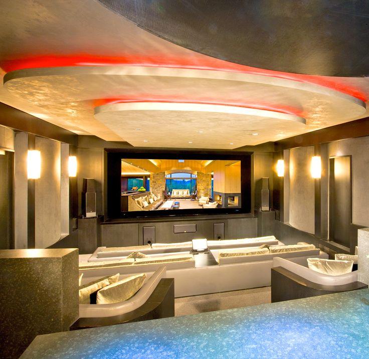 Custom designed contemporary home theater (Aspen, Colorado   Shane Aspen Real Estate)