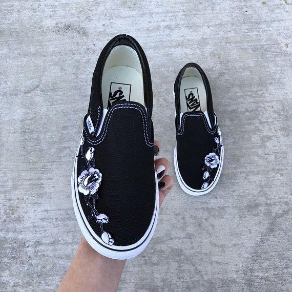 White slip on vans, Slip on sneakers