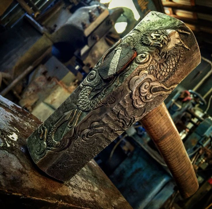 Hammer made by Ilya of Baltimore Knife and Sword Co. Unbelievable skills!