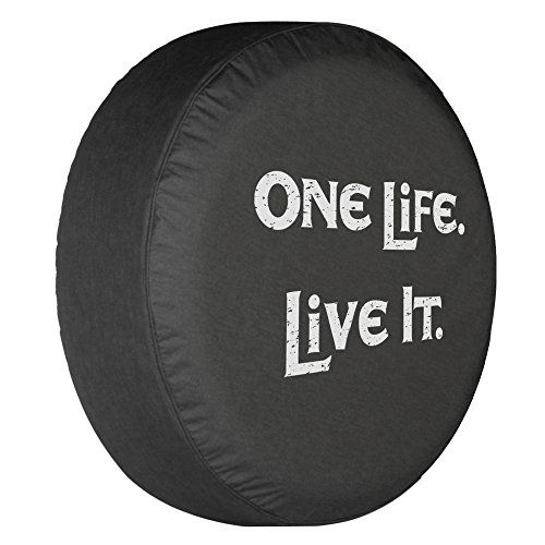 One-Life-Live-It-Spare-Tire-Cover-Black-Denim-Vinyl-White-Print-Made-in-the-USA