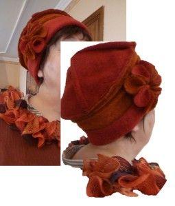 Voici les explications pour réaliser le chapeau publié le 4 novembre. Je n'ai pas fait de photos en le réalisant, alors il faudra vous contenter des explications brutes... Vous pourrez toujours vous reporter au tuto de mon premier chapeau. Le tissu :...