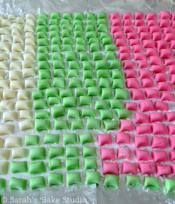 Butter Mint Pillows - Drying