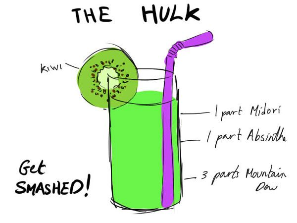 Avengers-Themed Cocktails