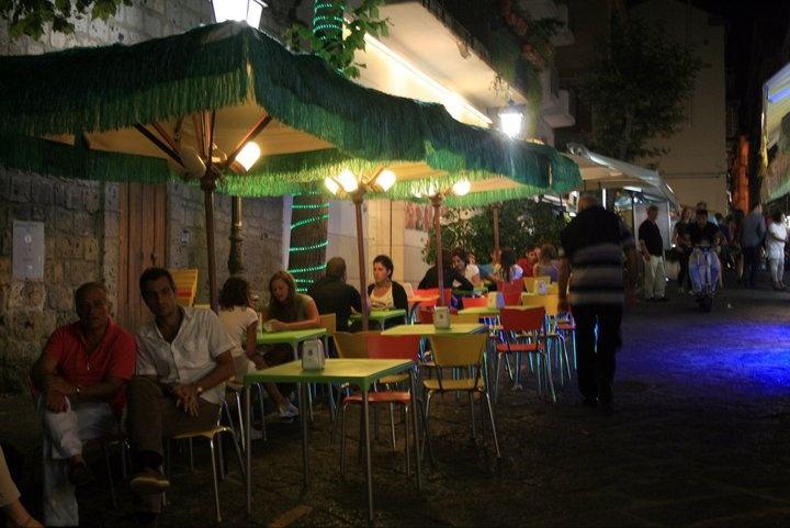 Sorrento street by night
