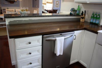 How to stain basic butcher block countertops from Ikea.
