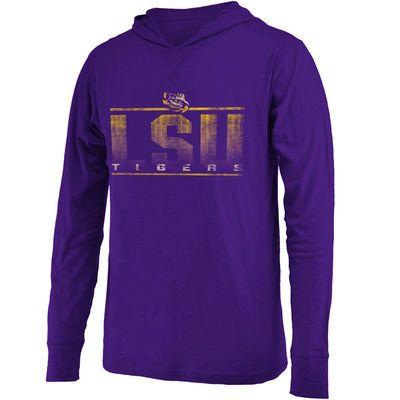 LSU Tigers Colosseum Luge Lightweight Hooded Long Sleeve T-Shirt - Purple