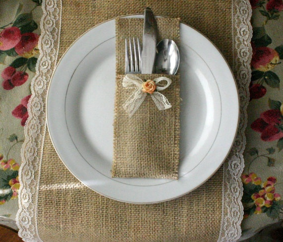 pinned via marmalade press burlap silverware holders for weddings