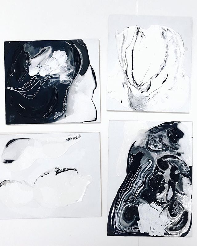 Emilie Gignac abstract paintings. @paremilie on Instagram