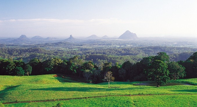 Glasshouse Mountains.1 of the most picturesque places to see in Queensland.