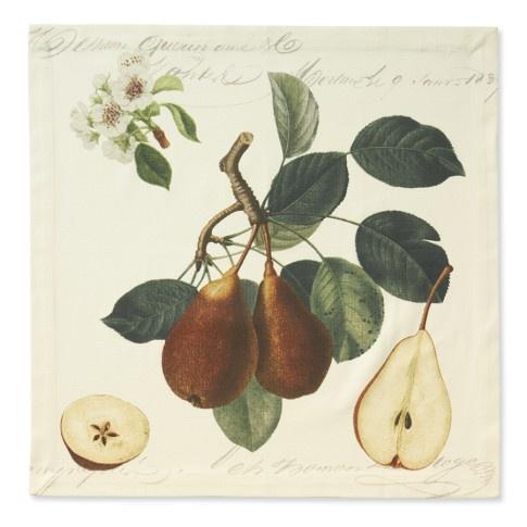 Botanical Pear Napkins, Set Of 4 | Williams Sonoma