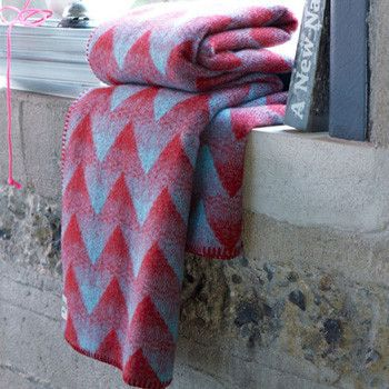 Lynild Norwegian Lambs Wool Throw by Røros Tweed $375 from @Lufina Wovens