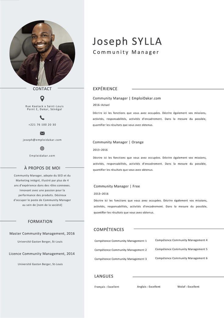Exemple de CV Community Manager en 2020 | Cv community ...