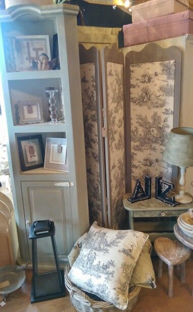 Room divider and cushion: Charcoal Pastorale