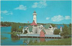Houghton Lake MI  Hasen Isle 1962 Hazen Randall built 87-foot lighthouse near the outlet of Muskegon River on Houghton Lake