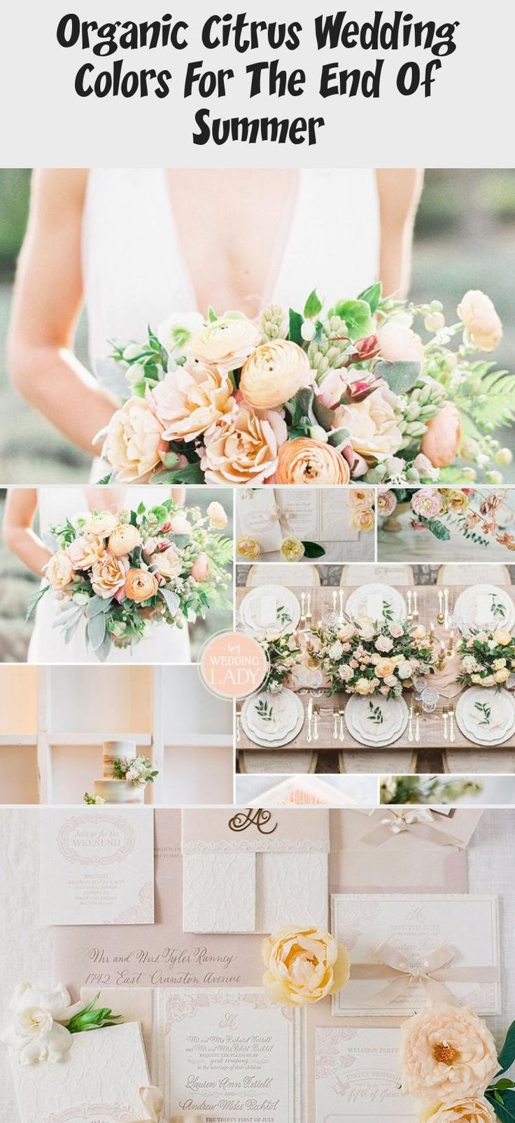 Organic Citrus Wedding Colors for the End of Summer