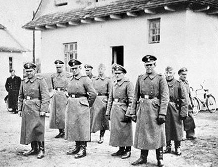 Officers and Non-commissioned officers at the Belzec extermination camp.