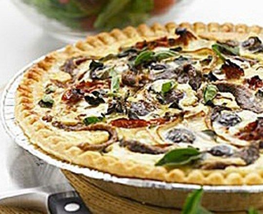 Olive, Oregano and Anchovy Tart