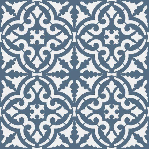 Reusable Stencil Moroccan Style Tile Allover Pattern  SKU