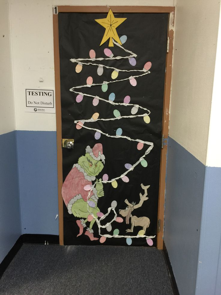 How the Grinch Stole Christmas Classroom Door