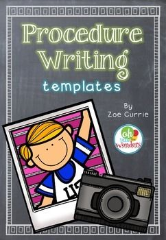 Procedure Writing Templates by Oh the Little Wonders   Teachers Pay Teachers