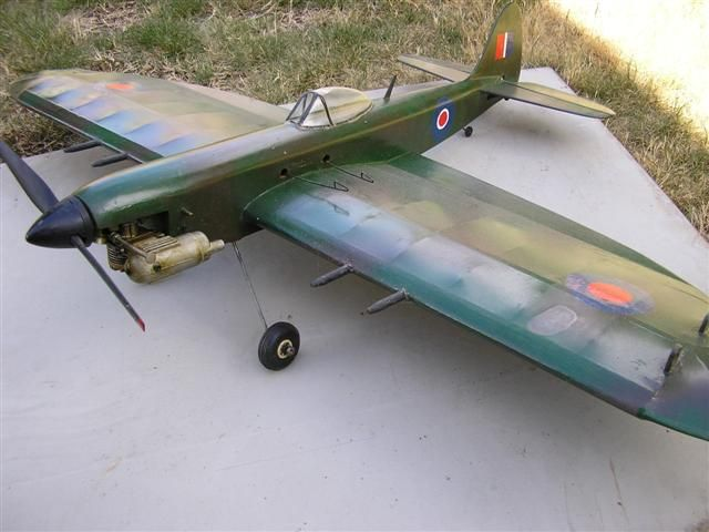 Aeroflyte Mk 111 Spitfire  OS Max 15. Picture courtesy of   Alwyn Smith.