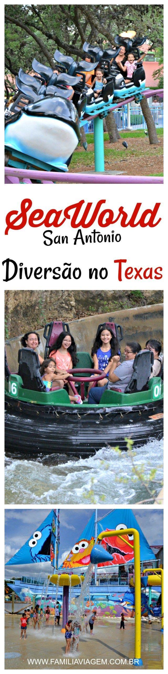 No SeaWorld San Antonio, no Texas, a diversão é garantida pra todas as idades: tem brinquedos pras crianças, montanha russa e atrações radicais para os aventureiros e shows que vão encantar toda a família