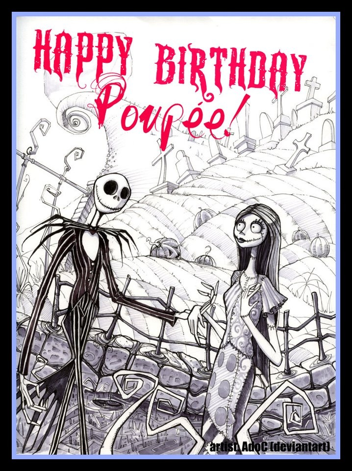 Surprising Love Nightmare Before Christmas Birthday Greetings For Funny Birthday Cards Online Ioscodamsfinfo