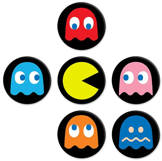 Epic image within pac man printable