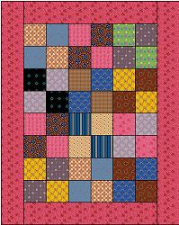 """Doll Quilt  Free Pattern    Adorable country quilt for your doll. Practice your sewing skills with this easy, small sewing project.    13.5"""" x 16.5"""" Quilt"""