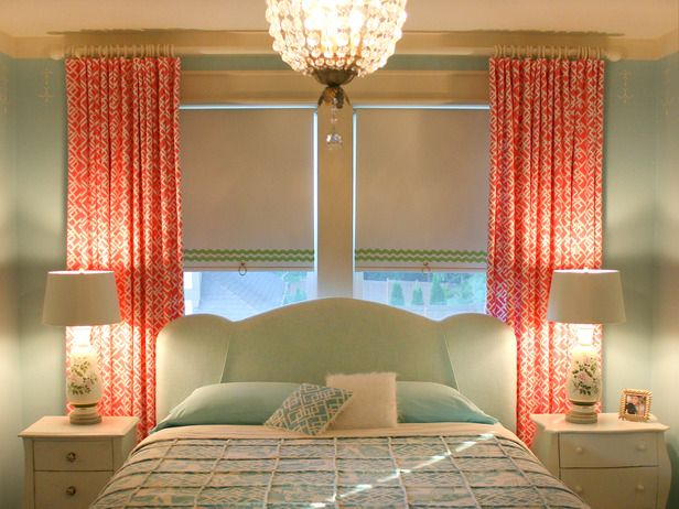 I really love the colors and curtains!: Idea, Curtains, Design Homes, Color Combos, Bedrooms, Rollers Shades, Guest Rooms, Windows Treatments, Girls Rooms