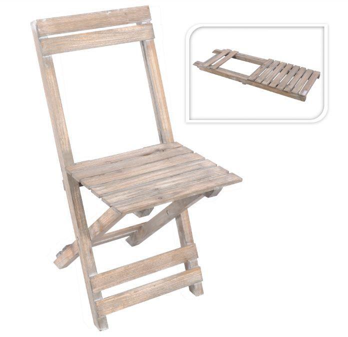 Klappstuhl Stuhl In Sprossenoptik Holz Vintage Look