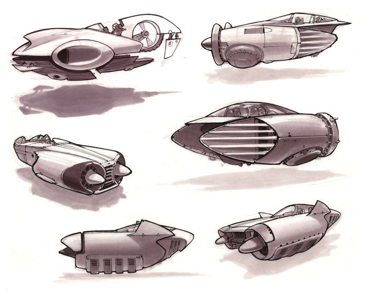 Vehicle sketches by Scott Robertson